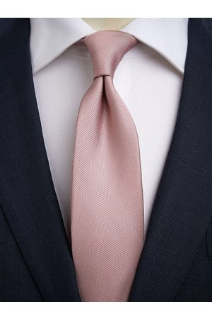 John Henric Man Slipsar - Dusty Pink Tie Plain