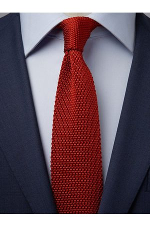 John Henric Red Knitted Tie