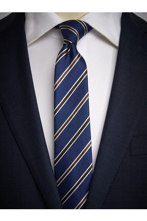 John Henric Blue & Brown Tie Striped