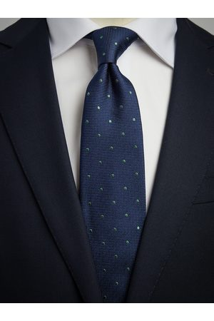 John Henric Man Slipsar - Blue & Green Dot Tie