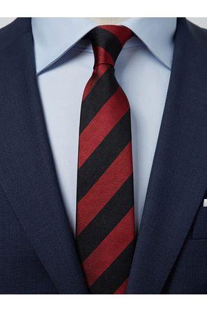 John Henric Man Slipsar - Black & Red Tie Club