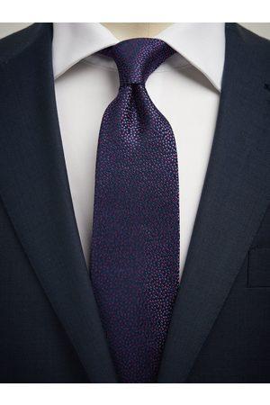 John Henric Man Slipsar - Dark Blue Tie Micro Dot