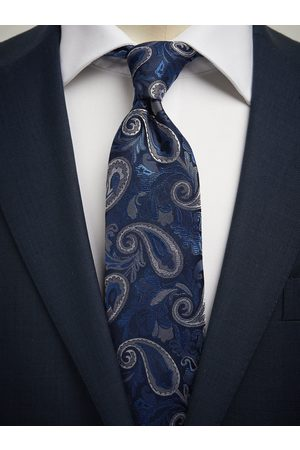 John Henric Man Slipsar - Blue Tie Big Paisley