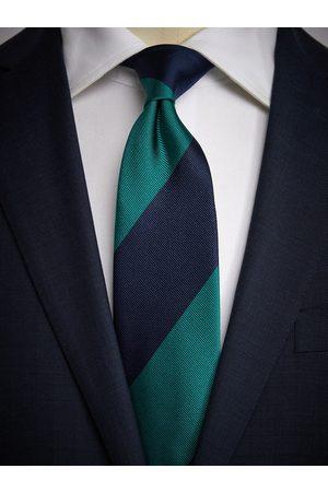 John Henric Man Slipsar - Green & Blue Tie Club Striped