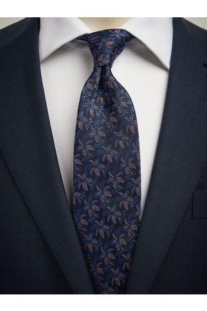 John Henric Man Slipsar - Blue Tie Floral