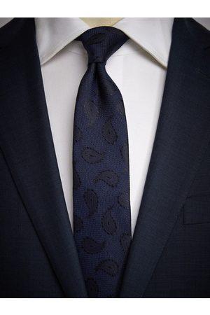 John Henric Man Slipsar - Blue Tie Paisley