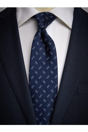 John Henric Man Slipsar - Blue Tie Motif
