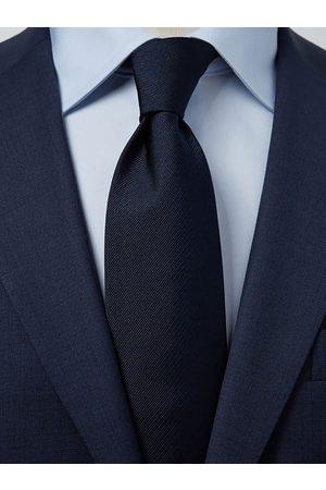 John Henric Man Slipsar - Dark Blue Tie Plain
