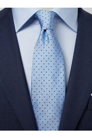 John Henric Light Blue Dot Tie