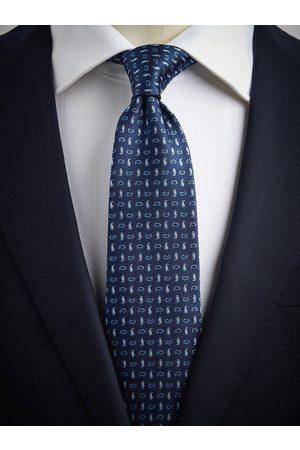 John Henric Blue Tie Small Paisley