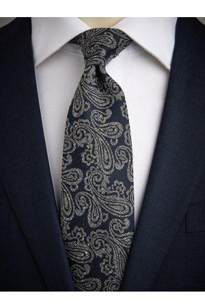 John Henric Grey Tie Paisley