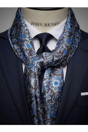 John Henric Man Sjalar - Grey Wool & Silk Scarf