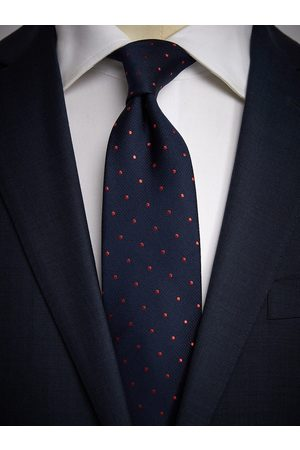 John Henric Dark Blue Dot Tie