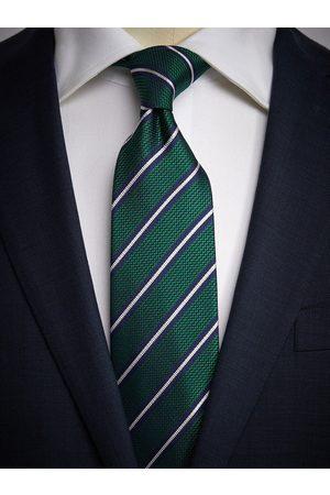 John Henric Man Slipsar - Green Tie Striped