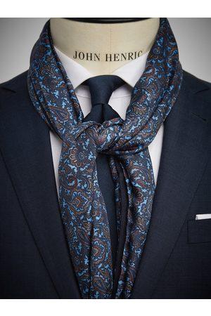 John Henric Light Blue Wool & Silk Scarf