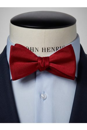 John Henric Dark Red Bow Tie Plain
