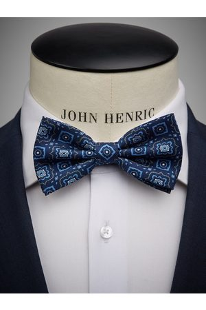 John Henric Man Flugor - Blue Bow Tie Geometric