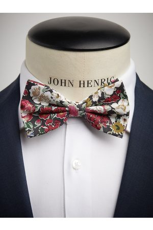 John Henric Green & Red Bow Tie Cotton Floral