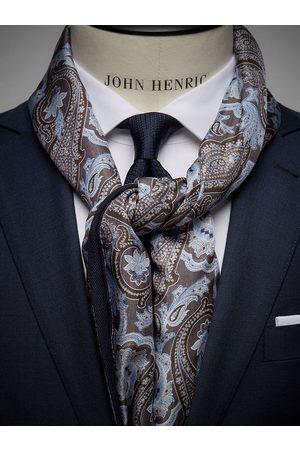 John Henric Brown Wool & Silk Scarf