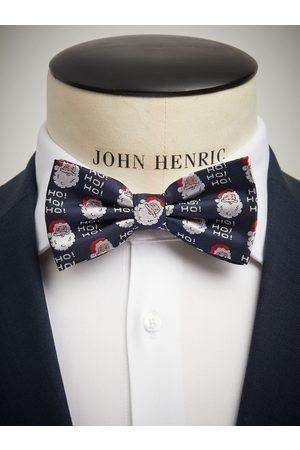 John Henric Christmas Bow Tie Blue