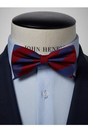 John Henric Blue & Burgundy Bow Tie Club