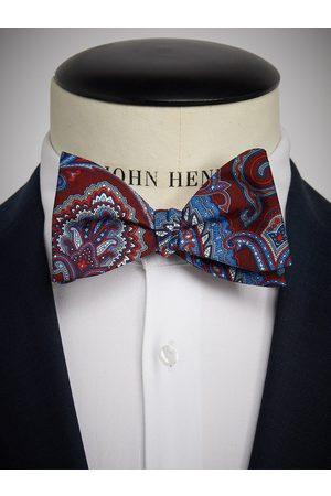 John Henric Burgundy Bow Tie Paisley