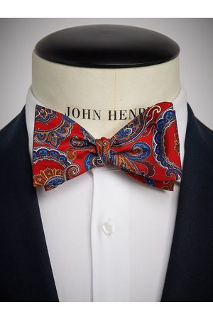 John Henric Red Bow Tie Paisley
