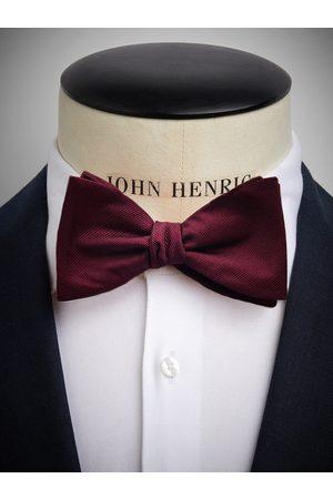 John Henric Man Flugor - Burgundy Bow Tie Plain