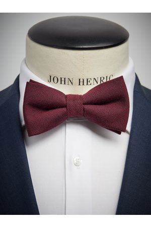 John Henric Burgundy Bow Tie Wool