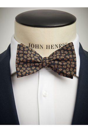 John Henric Black Bow Tie Small Paisley