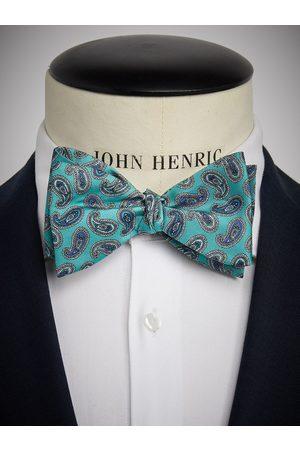 John Henric Man Flugor - Turquoise Bow Tie Paisley