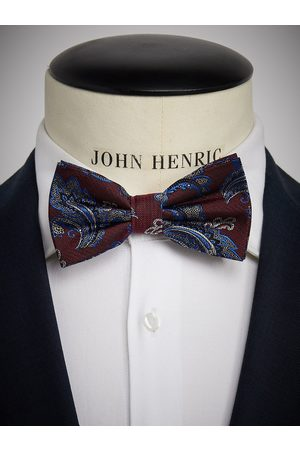 John Henric Man Flugor - Burgundy Bow Tie Paisley