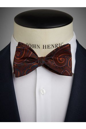 John Henric Burgundy Bow Tie Big Paisley