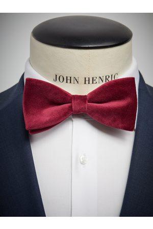 John Henric Man Flugor - Burgundy Velvet Bow Tie