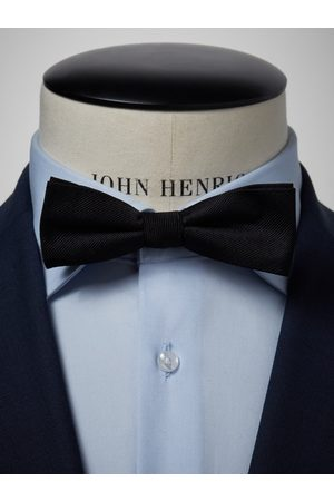 John Henric Black Pique Bow Tie