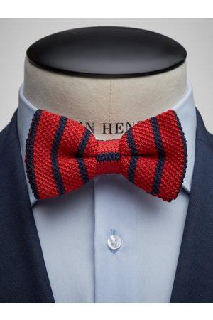 John Henric Man Flugor - Red Bow Tie Wool Regimental