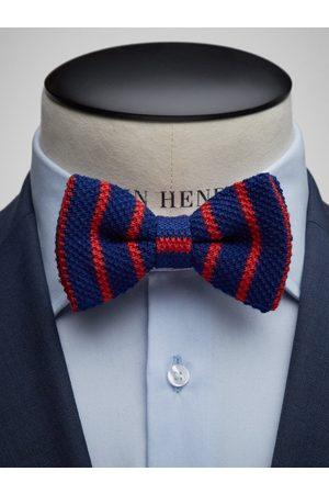 John Henric Blue Bow Tie Wool Regimental
