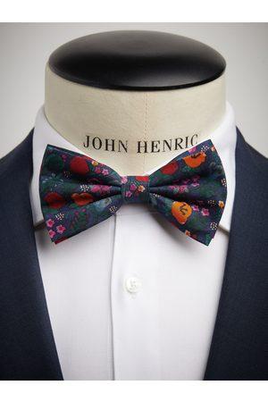 John Henric Dark Blue Bow Tie Cotton Floral
