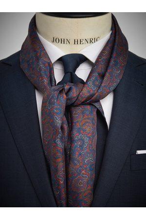 John Henric Burgundy Wool & Silk Scarf