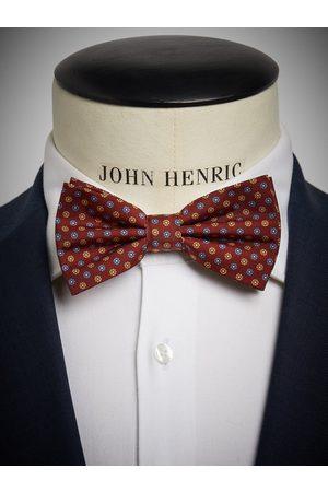 John Henric Red Bow Tie Motif