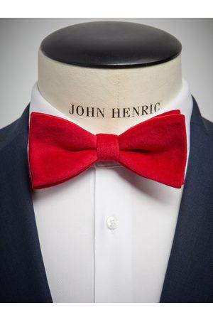 John Henric Red Velvet Bow Tie