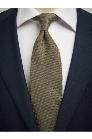 John Henric Olive Green Grenadine Tie