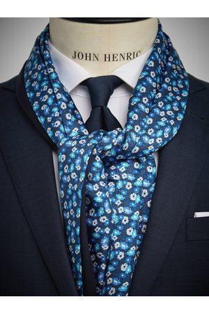 John Henric Blue Wool & Silk Scarf