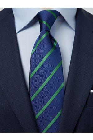 John Henric Blue & Green Tie Striped