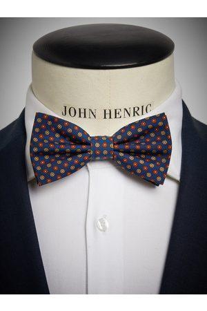John Henric Blue Bow Tie Motif