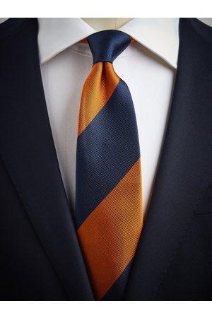 John Henric Blue & Orange Tie Club Striped