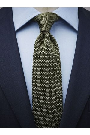 John Henric Olive Green Knitted Tie
