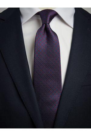 John Henric Blue & Burgundy Tie Motif