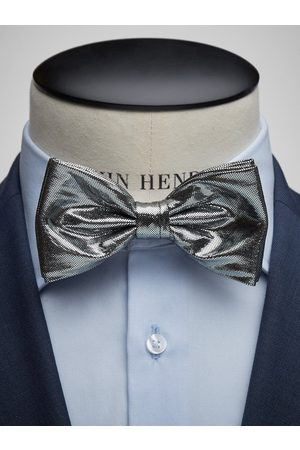 John Henric Silver Bow Tie Formal