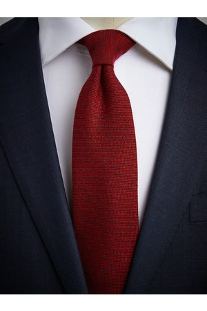 John Henric Red Cashmere Tie